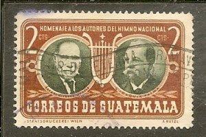 Guatemala  Scott 352   National Anthem   Used