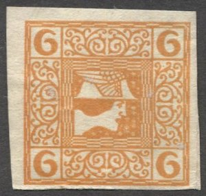 AUSTRIA 1908  Sc P16  6h Mercury Newspaper stamp MLH, VF