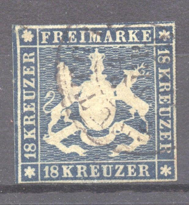Wuerttemberg 1859 the scarce 18 Kr. used