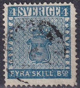 Sweden #2 F-VF Used  CV $110.00