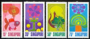 Singapore Sc# 157-160 MNH 1972 Chinese New Year