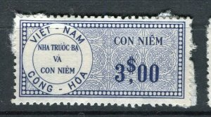 VIETNAM; Early CONG-HOA revenue issue Mint unused$3. value ( paper adhesion)