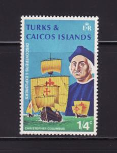 Turks and Caicos Islands 253 MNH Ships, Christopher Columbus
