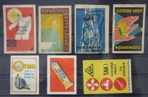 Match Box Labels! hygiene detergent serbia czechoslovakia GJ3