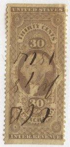 0988 U.S. Revenue Scott R52b, 30-cent Inland Exchange part perf