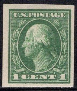 US Stamp #408 1c Washington Imperf MINT Hinged SCV $1
