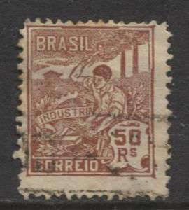 Brazil - Scott 222 - Industry Issue -1920 - Used - Single 50r Stamp