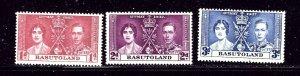 Basutoland 15-17 MH 1937 KGVI Coronation