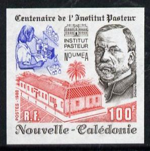New Caledonia 1988 100f Pasteur Institute imperf from lim...