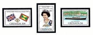 Grenada 1323-25 MNH 1985 Royal Visit             (KA)