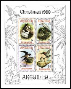 Anguilla Pelican Heron Swallow Hummingbird Birds Christmas MS SG#MS420