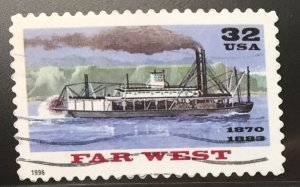 US #3093 Used F/VF - Far West Steamboat 32c