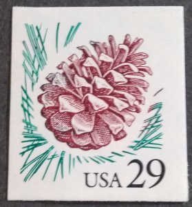U.S.#2491 Pine Cone 29c Die Cut Booklet Single, MNH.