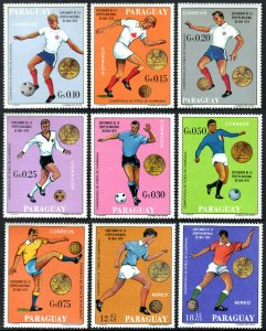 Paraguay 1178-1186, MNH. Olympic Soccer Champions, 1900-1968, 1969