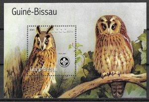 Guinea-Bissau MNH S/S Owls 2001    HOOOOOT!!!!!