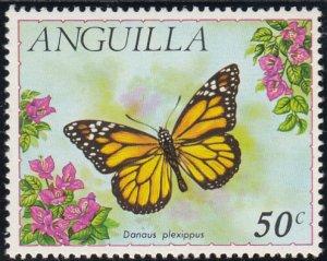 Anguilla 1971 MH Sc #126 50c Danaus plexippus Butterflies