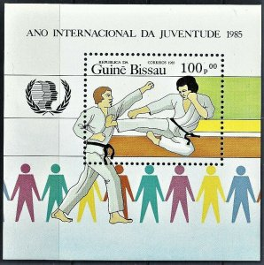 Guinea-Bissau 1985 souvenir sheet MNH International Year of Child karate sport