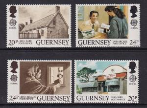 Guernsey  #422-423  MNH  1990 Europa  post offices