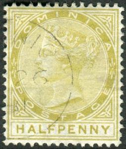 DOMINICA-1879 ½d Olive-Yellow.  A very fine used example Sg 4