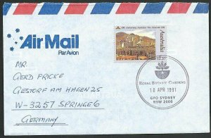 AUSTRALIA 1991 cover to Germany - nice franking - Sydney Pictorial pmk.....47299