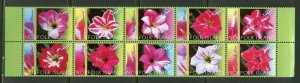 NORFOLK ISLAND ORCHIDS SET OF TEN   MINT NH