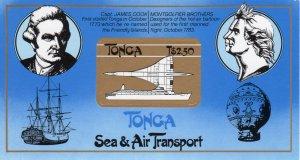 Tonga 1983 Sc#536  CAPT.COOK/CONCORDE/MONTGOLFIER BALLON S/S (1)