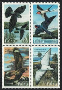 Palau Swiftlets Swallows Nightjar Birds Block of 4 SG#847-850