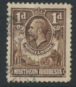 Northern Rhodesia  SG 2  SC# 2 Used  see detail and scan