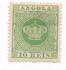 Angola #10  10 10r green (MH) CV $8.50