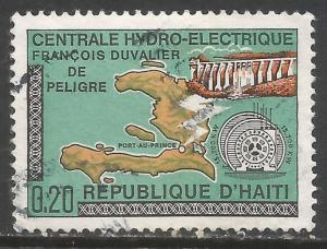 HAITI 637 VFU MAP Z3089