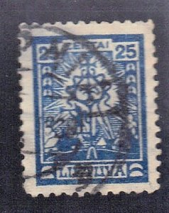 LITHUANIA SC# 168 USED 25c 1923 SEE SCAN