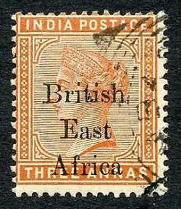 KUT 1895 3a Variety Wide B of British Used