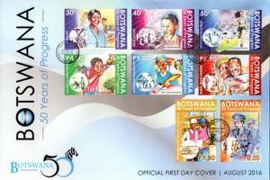 Botswana - 2016 50 Years of Progess FDC