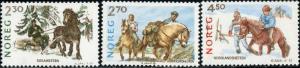 Norway #917-919 Norwegian Horse Breeds MNH