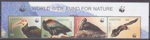 2004 Lesotho 1895-98strip Birds