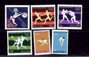Poland 1259-64 MNH 1964 Olympics Part set