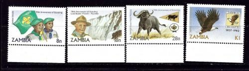 Zambia 268-71 NH 1982 Scoutng Year
