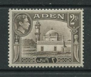 ADEN - Scott 20 - KGVI Definitive Issue - 1938 - MVLH - Single 2a Stamps