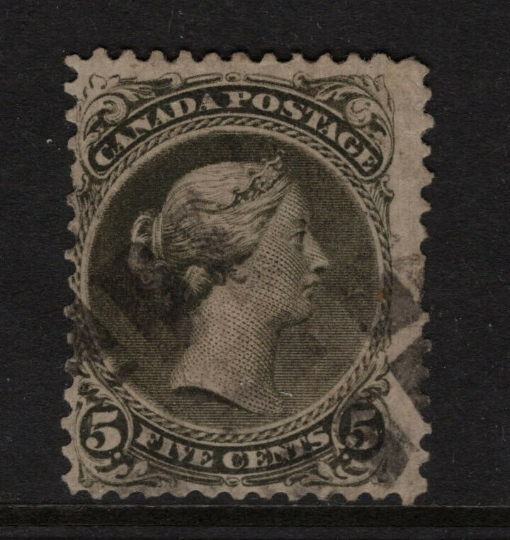 Canada #26a Used Fine - Few Trivial Short Perfs **With Certificate**