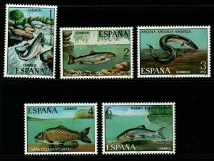 SPAIN SG2452/6 1977 SPANISH FAUNA FRESHWATER FISH MNH