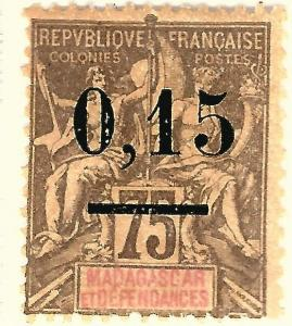 French Madagascar (Scott #54) Mint OG Fine hr..French Colonies are hot!