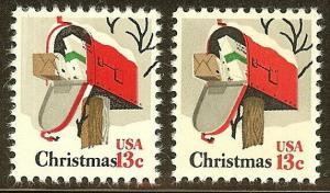1730 - Black Color Shift Error / EFO 13c Mailbox Mint NH
