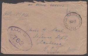 AUSTRALIA FORCES ON MOLUCCA ISLANDS 1945 RAAF censor cover from Morotai....55164