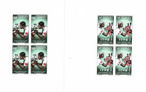 Gabon 1966 Red Cross Sheet Sc C41a - C42a MNH C4
