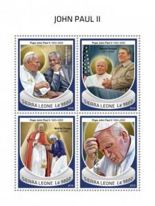 SIERRA LEONE - 2018 - Pope John Paul II - Perf 4v Sheet - MNH