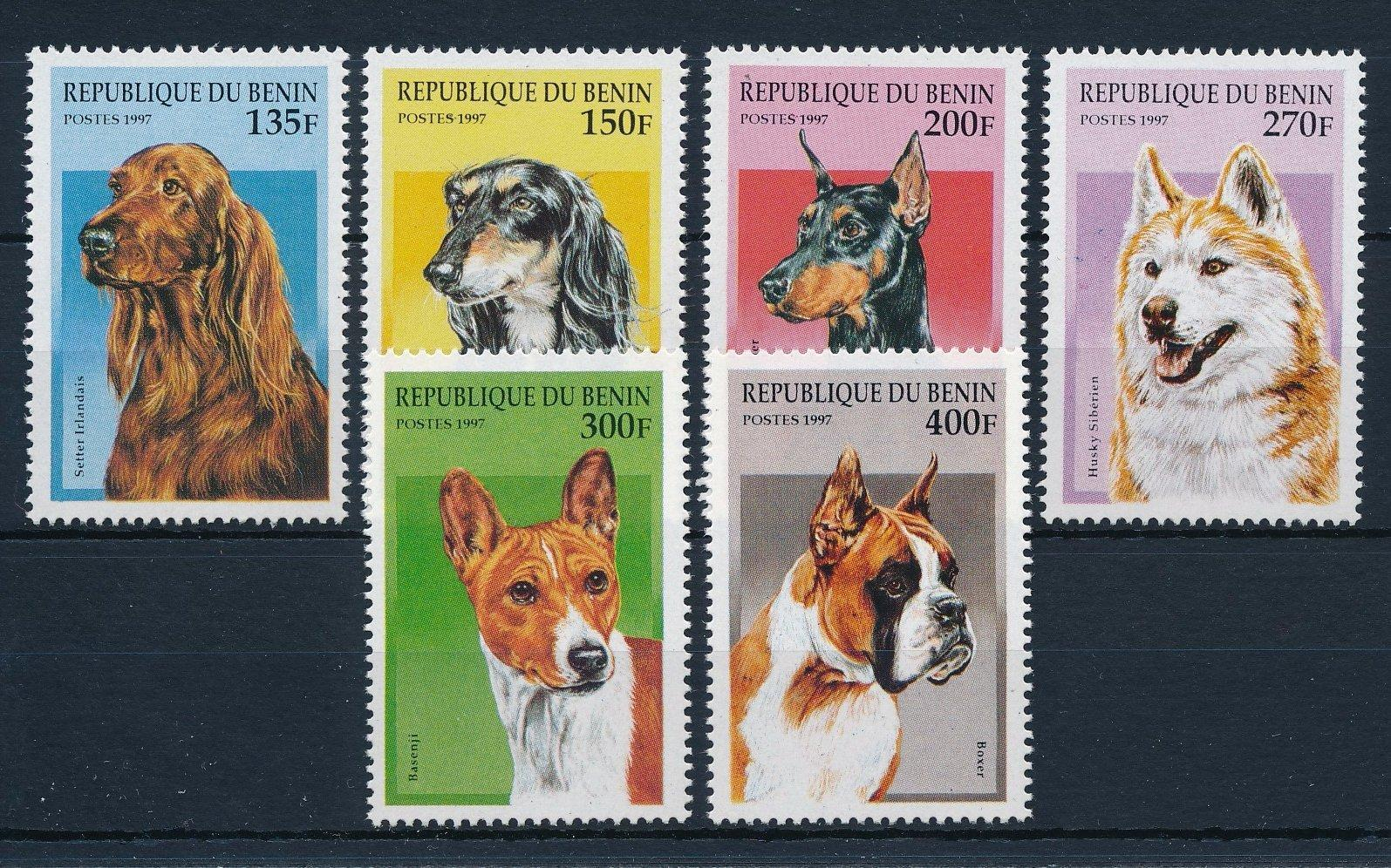 Benin 936-941 Mint Never Hinged Mnh 1997 Breeds Stamps