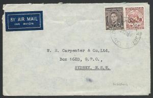 PAPUA NEW GUINEA 1951 cover Australia franking MADANG cds..................12594