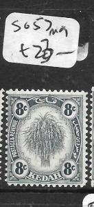 MALAYA KEDAH  (P3012B) 8C LEAF  SG 57  MOG