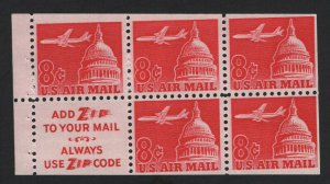 United States MINT Scott Number C64b BOOKLET PANE  MNH  F-VF  #2  -  BARNEYS