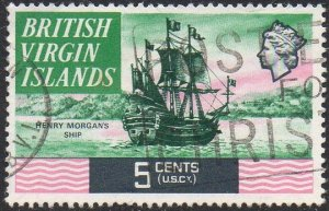 British Virgin Islands 1970 5c Henry Morgan's ship (17th century) used